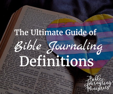 bible journaling definitions