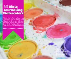 bible journaling watercolors