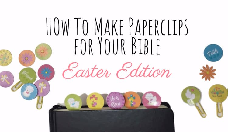 How to Make PaperClip Bookmarks for Easter