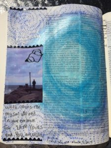 Bible journaling scrapbook focal point