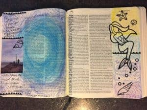 Bible journaling scrapbook layout