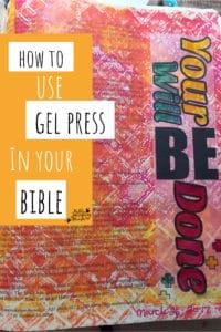 gel press bible journaling