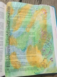 Bible journaling entry - Acts