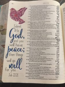 Bible journaling entry - Job