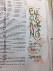 Mark - Bible journaling entry