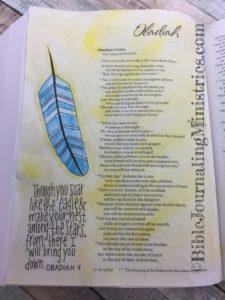 Obadiah - Bible journaling entry