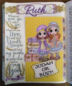 Bible journaling Ruth 1 16