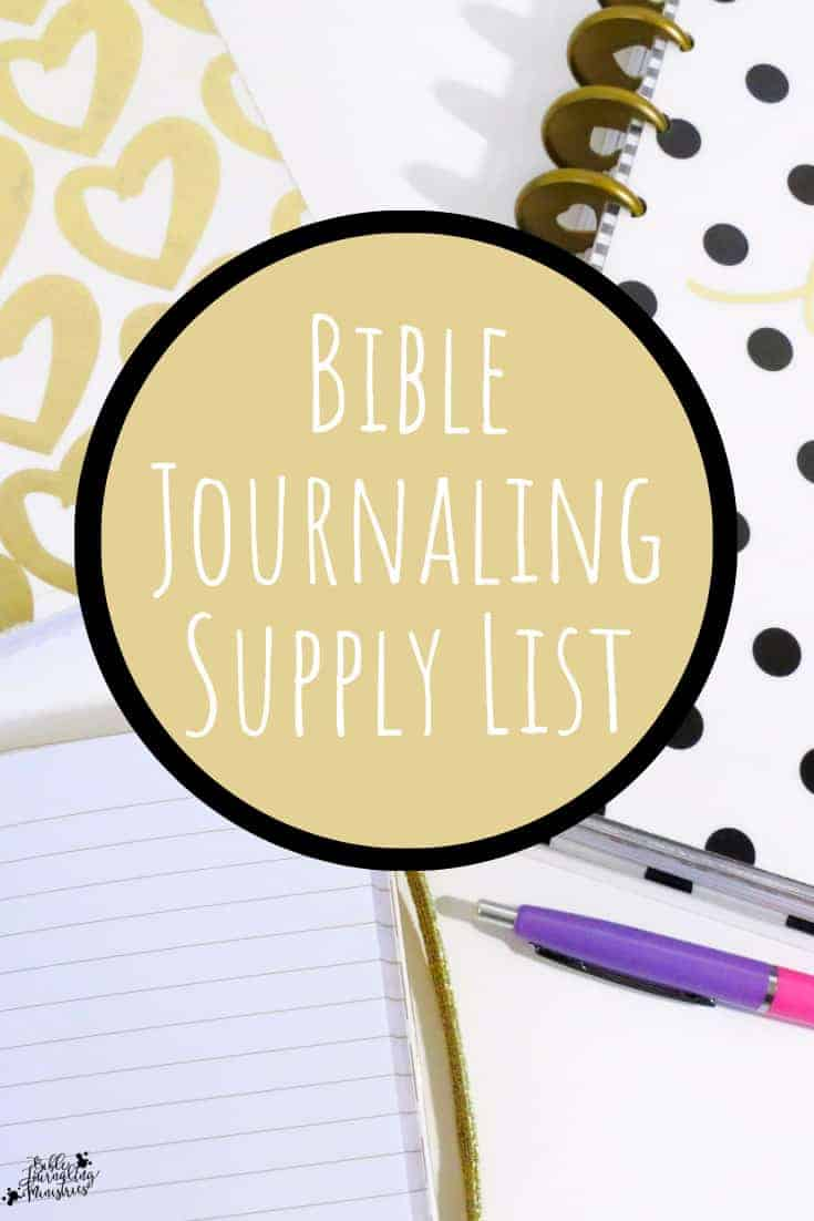 bible journal supply list