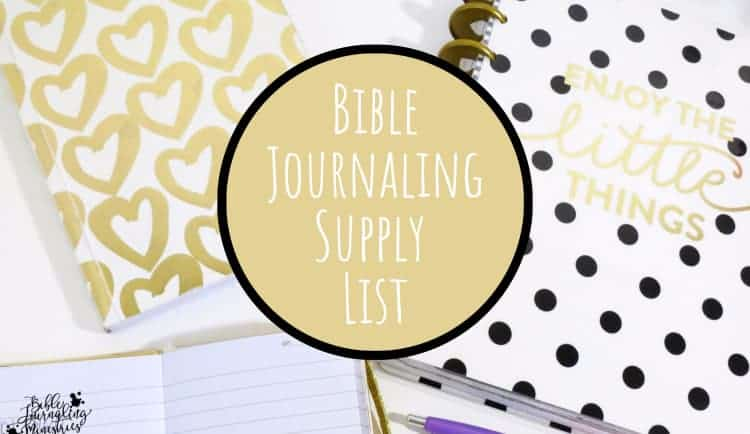 bible journaling supply list
