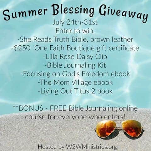 SUMMER BLESSING GIVEAWAY 2017