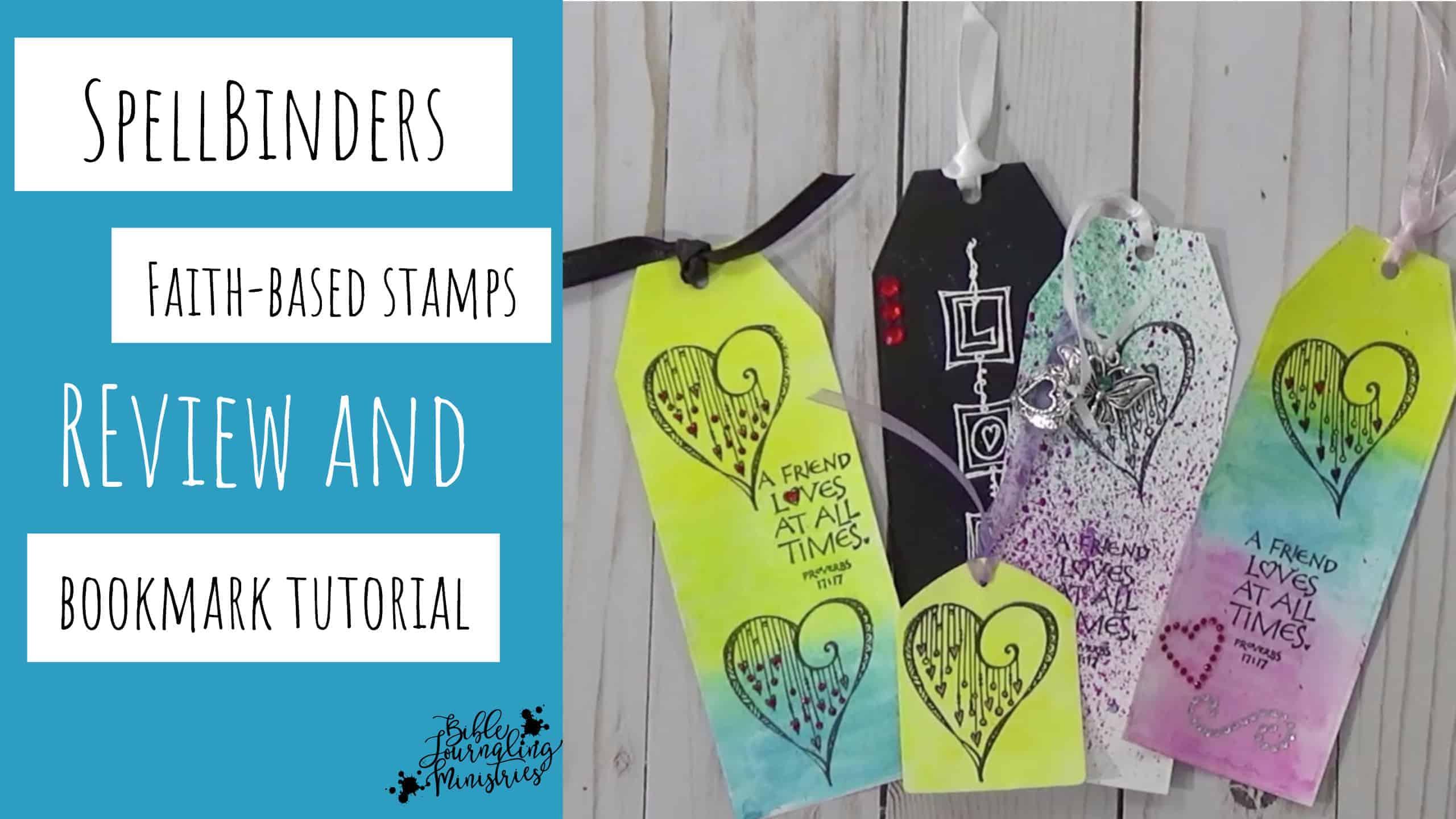 Spellbinders Bible Journaling Stamps and Bonus Bookmark Tutorial