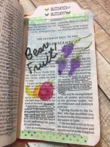 Colossians - tiny bible journaling