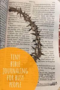 tiny bible journaling