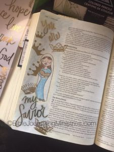 Christmas Bible journaling ideas luke 2