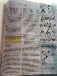 Bible Journaling 1 John 1: 9