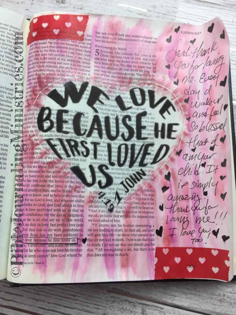 Bible Journaling 1 John 4:19