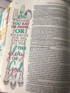 Bible Journaling 1 Corinthians 10:31