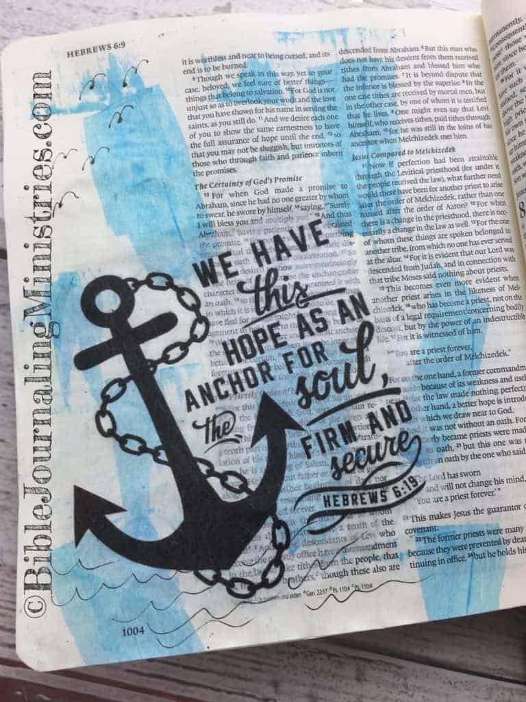Bible Journaling Beautiful Verses Hebrews 6:19