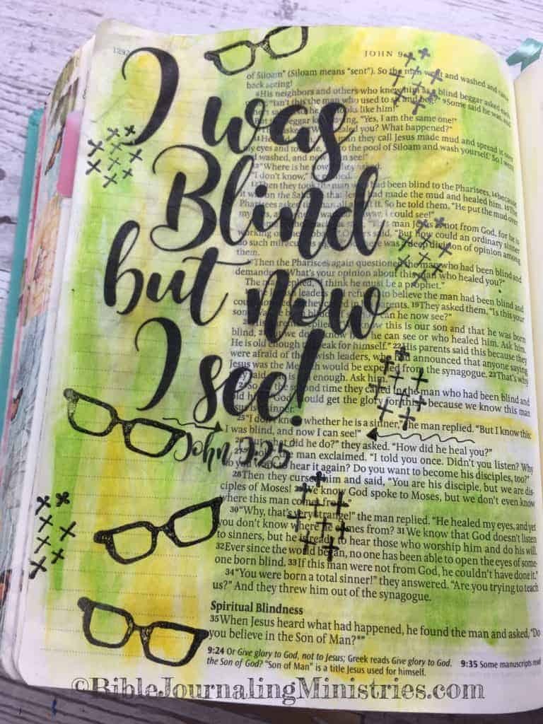 Bible Journaling Beautiful Verses John 9:25