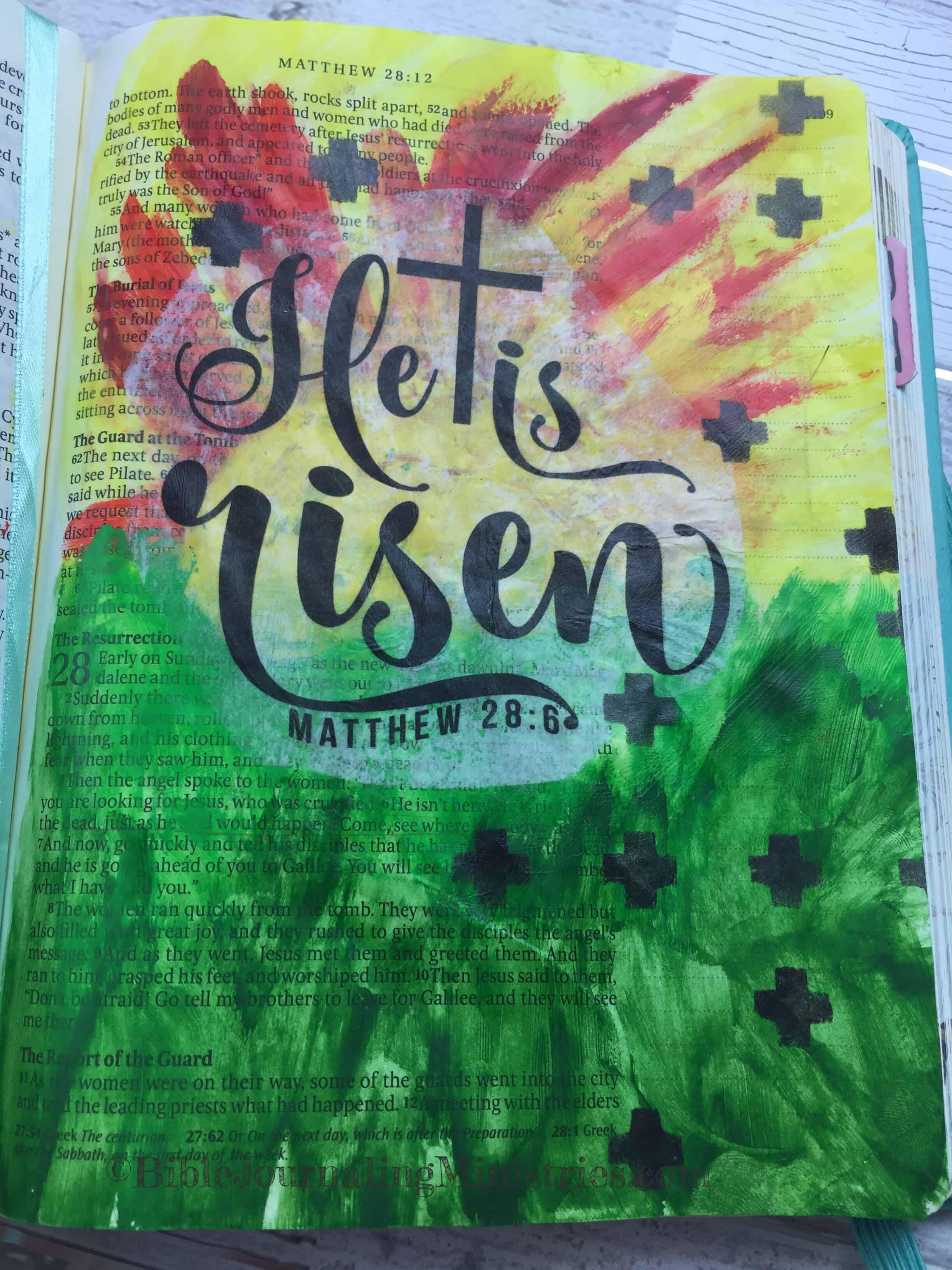 Bible Journaling Beautiful Verses