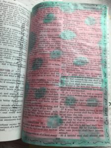 Bible Journaling Proverbs 28:13