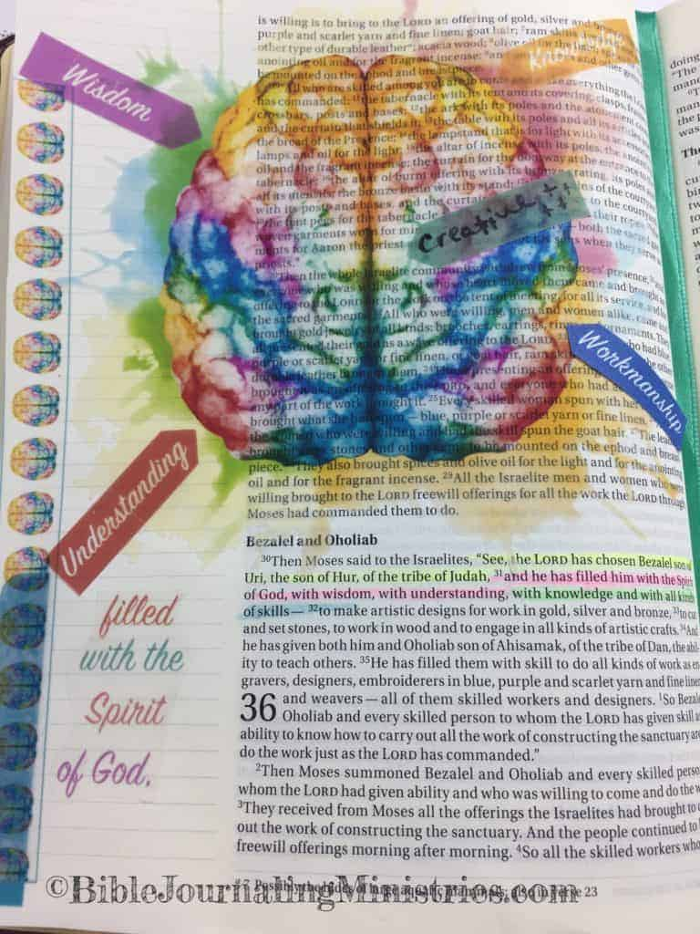 Bible Journaling Exodus 35:30-31