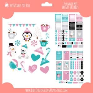 Frosty Friends Planner Stickers