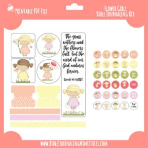 Flower Girls Digital Bible Journaling Kit