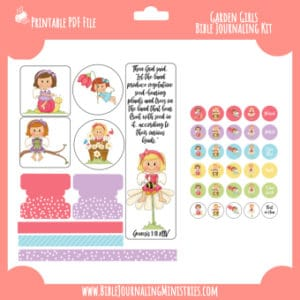Genesis 1 - Garden Girls Digital Bible Journaling Kit