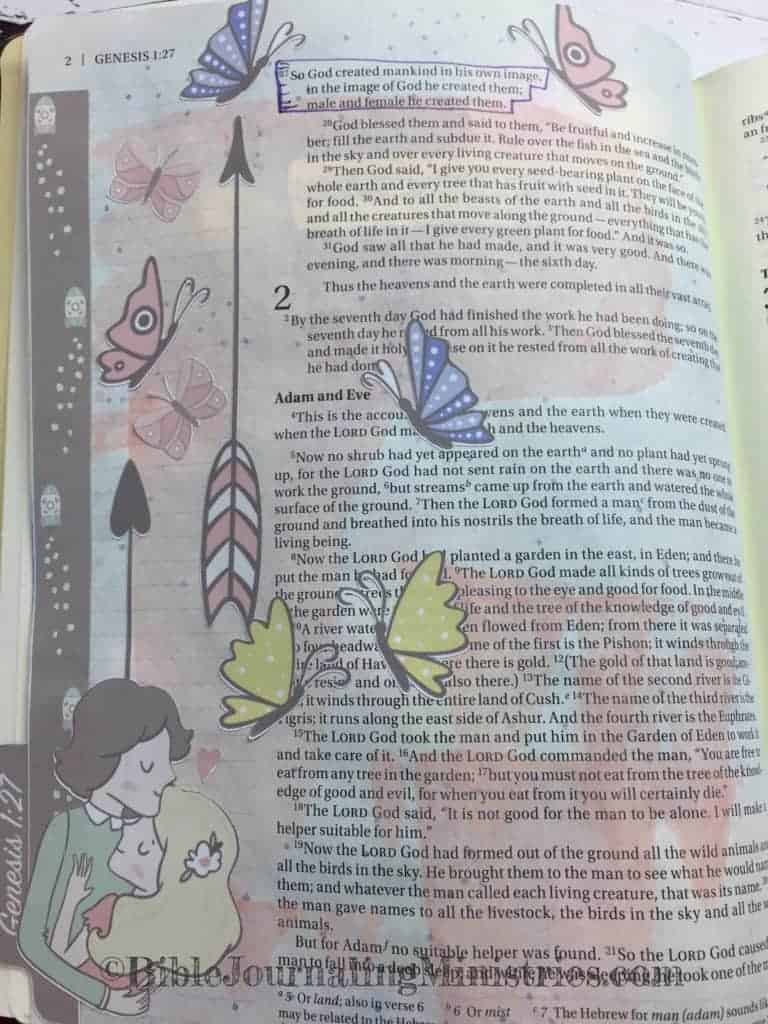 Bible Journaling Genesis 1:27