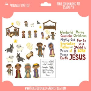 Isaiah 9:6 - A Child Is Born Digital Bible Journaling Kit