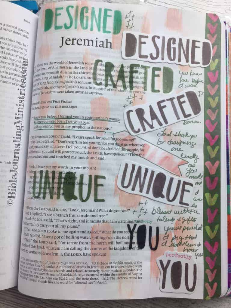 Bible Journaling Jeremiah 1:5