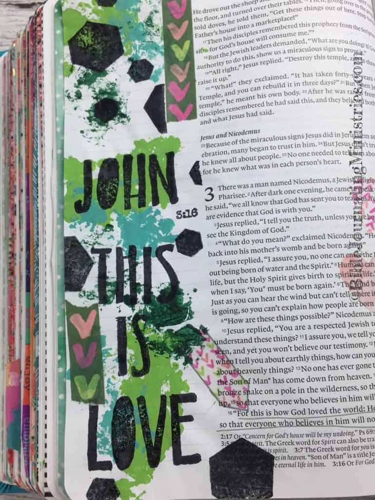 Bible Journaling John 3:16