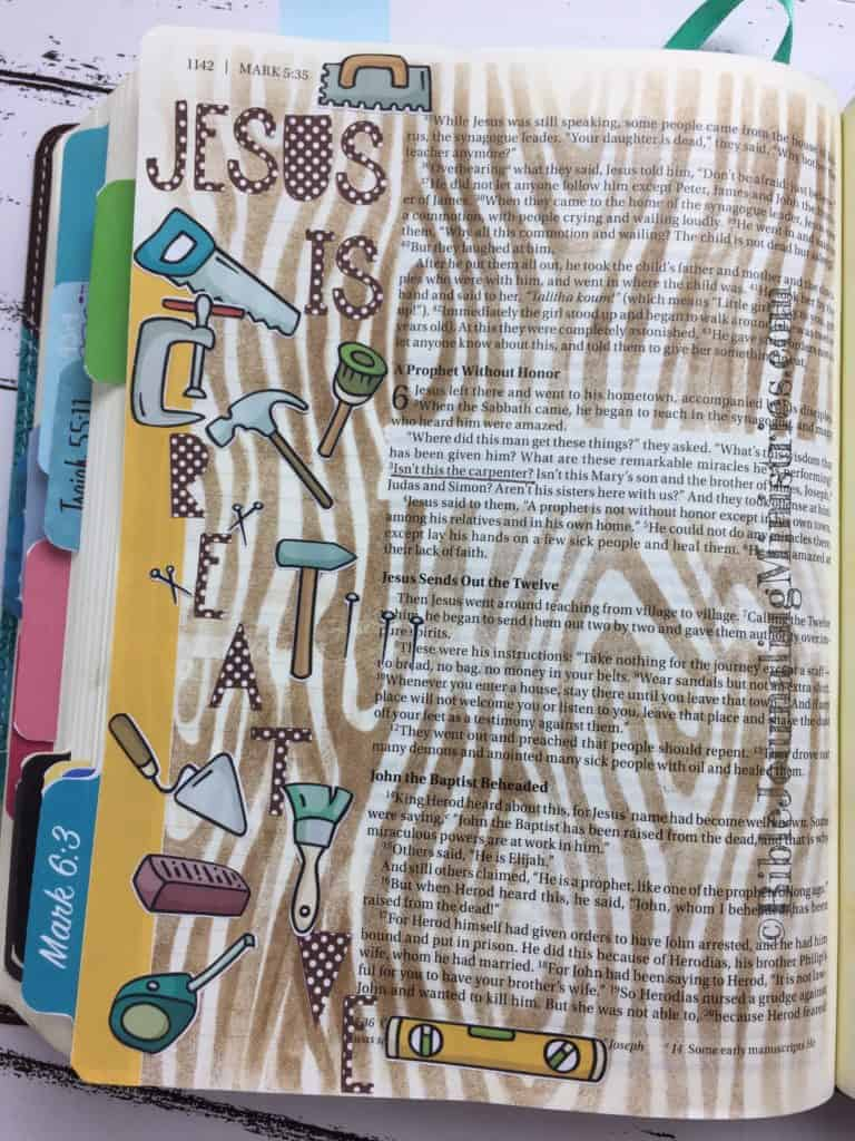 Bible Journaling Mark 6:3