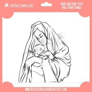 Mary & Jesus Digital Stamp