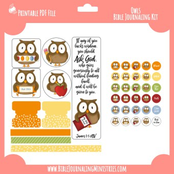 James 1 - Owls Digital Bible Journaling Kit