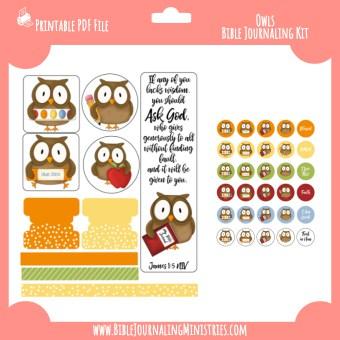 James 1 - Owls Digital Bible Journaling Kit