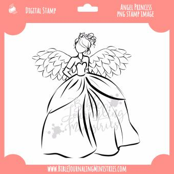Princess Angel Digital Stamp