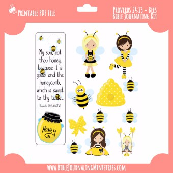 Proverbs 24 - Bees Digital Bible Journaling Kit