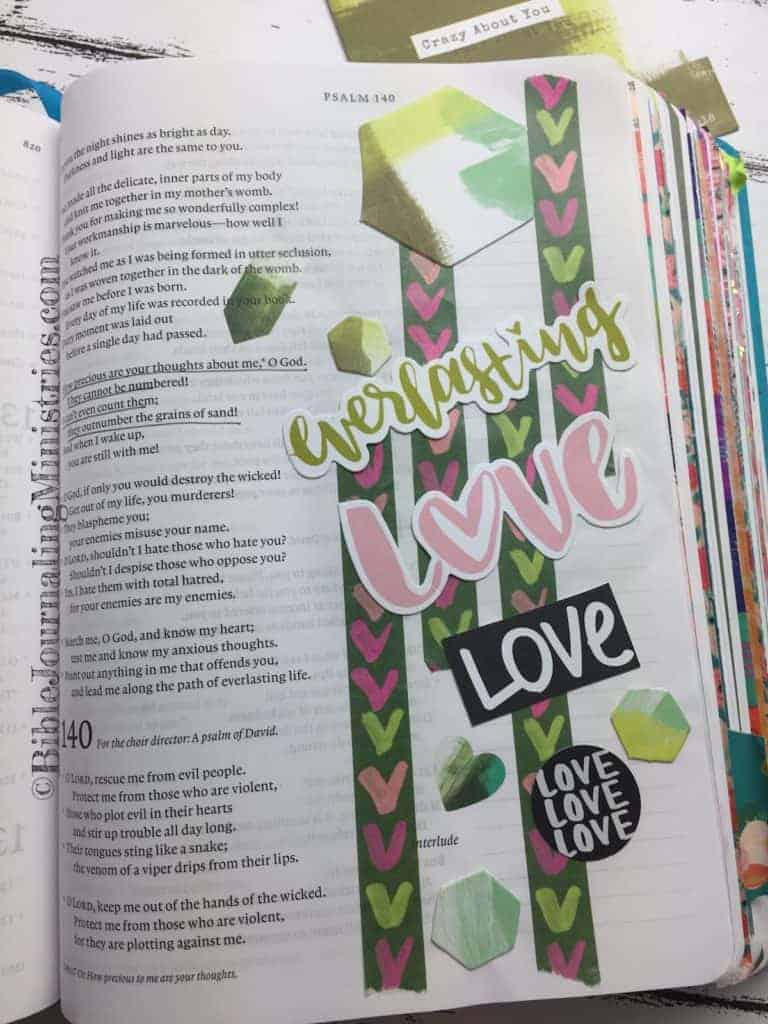 Bible Journaling Psalm 139:17-18