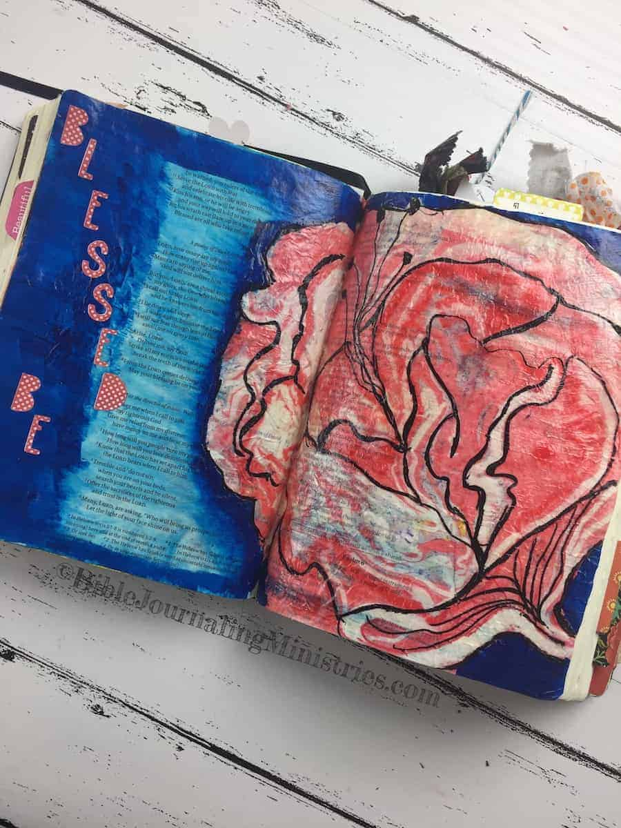 Bible Journaling Ideas for Verses about Blessings