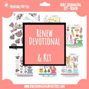 Renew Bible Journaling Kit - January 2018 Kit