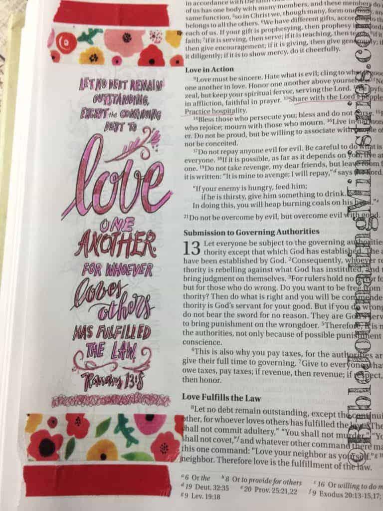 Bible Journaling Romans 13:8