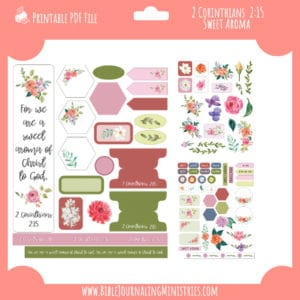 2 Corinthians 2:15 - Sweet Aroma Digital Bible Journaling Kit