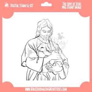 The Love of Jesus Digital Stamp