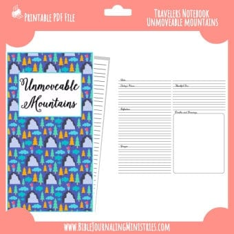 Unmovable Mountains Traveler's Notebook Insert