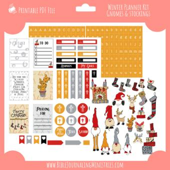 Winter Gnome Planner Stickers