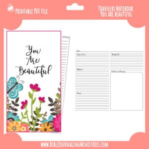 You Are Beautiful Traveler's Notebook Insert