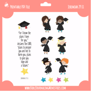 Jeremiah 29 - Graduation Digital Bible Journaling Kit