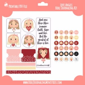 1 Corinthians - Love Angels Digital Bible Journaling Kit